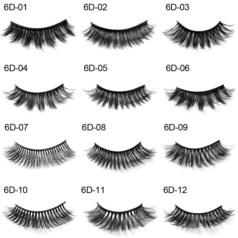 conjuntos 12 6d rala cilios posticos naturais grosso encaracolado longo eye lashes extensao maquiagem ferramentas artesanais