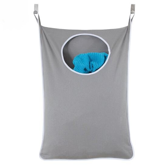 Hanging Laundry Hamper Over The Door Large Capacity Dirty Clothes Storage Portable Durable Oxford Cloth Recycle Bag
