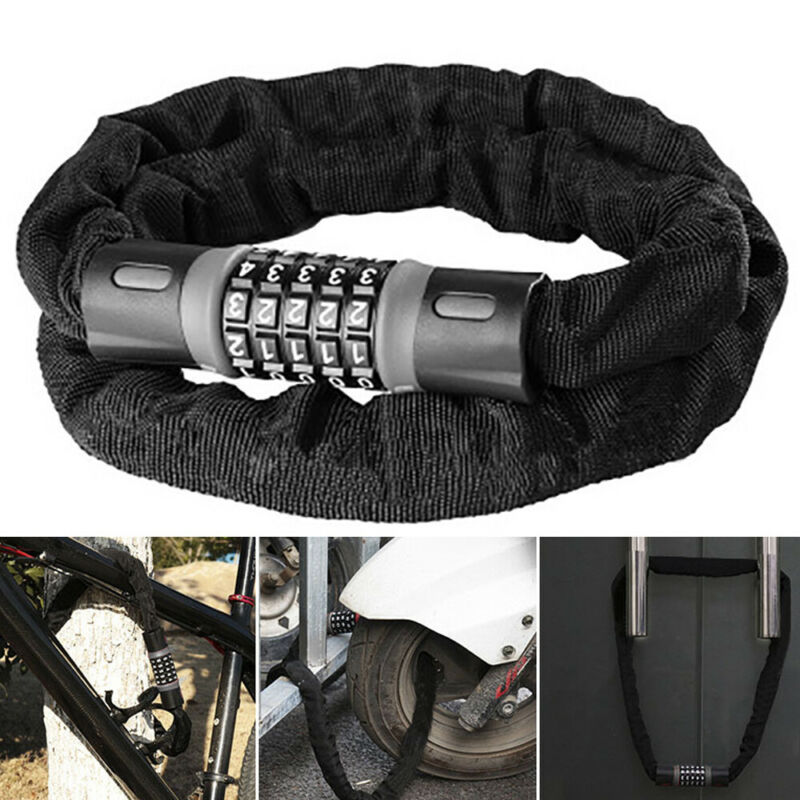 0.6M Long Motorbike Motorcycle Bicycle Security Chain Lock Password Code Novelty