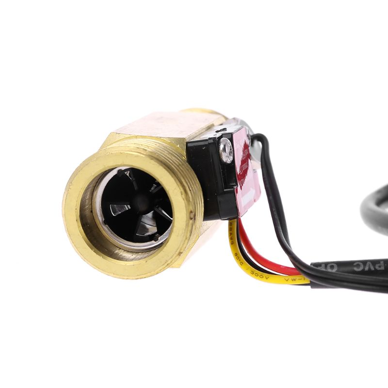 """G3//4/"""" Flow Sensor Water Flow Switch With Temperature Detection For Turbine Hall"""