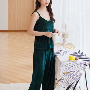Image 2 - Women Pajamas sleepwear Velvet 3 Pieces pajamas for women Warm Winter Pajamas Sets Sexy Pajama Set Women pyjama cotton pijama