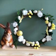 8 30 センチメートルイースター花輪装飾クリスマスパーティー結婚式花輪の装飾品、自然ドライ花輪diy籐花輪にドア