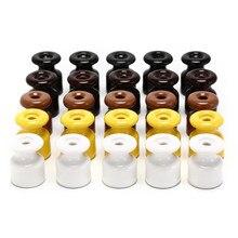 5 pçs/lote para a fiação da parede de alta frequência 5 cores porcelana elétrica isolador cerâmico isoladores porcelana isolador
