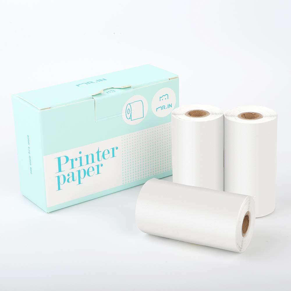 Phomemo Semi-Transparent Sticker Thermal Paper, Self-Adhesive For Phomemo-M02/M02S Mini Bluetooth Pocket Printer,50mm X 2.5m