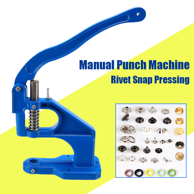 Punch Manual Installation Tool Snap Pressing Machine Grommet Eyelet Machine Hand Press Pressing Clamp Machine Tool Home Craft