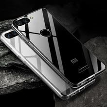 Caso claro do telefone de tpu para redmi xiaomi a1 a2 a3 5x 6x 8 nota 10 lite pro se mais f1 silicone transparente capa macia casos