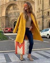 Зимнее пальто шерстяное размера плюс женское длинное толстое