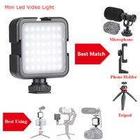 Luz de vídeo de estudio Led iluminación LED vlogs Luz de relleno película para lámpara ligera para Smartphone DSLR cámara para YouTube video vlogs filmación de películas