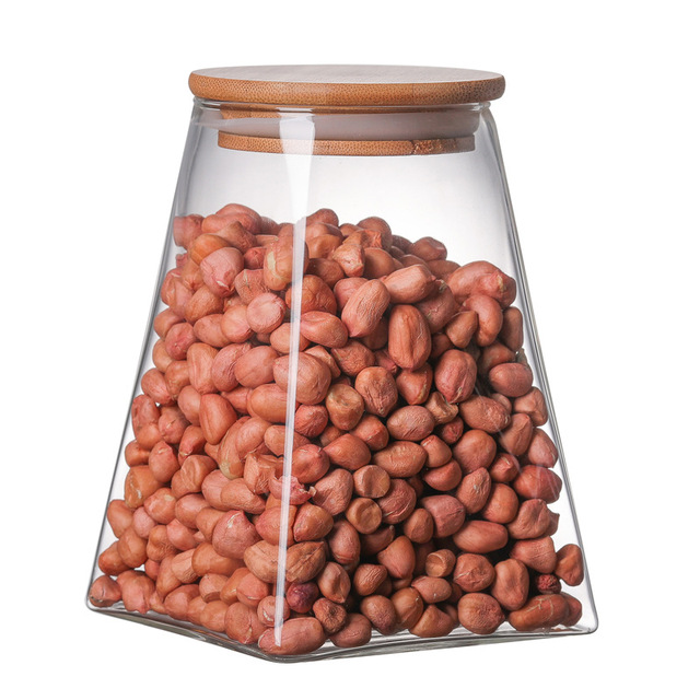 350ml/500ml/750ml/950ml Coffee Jar Tea Jar  sugar jar  glass container  candy jar Storage Container Kitchen Container Cover 4