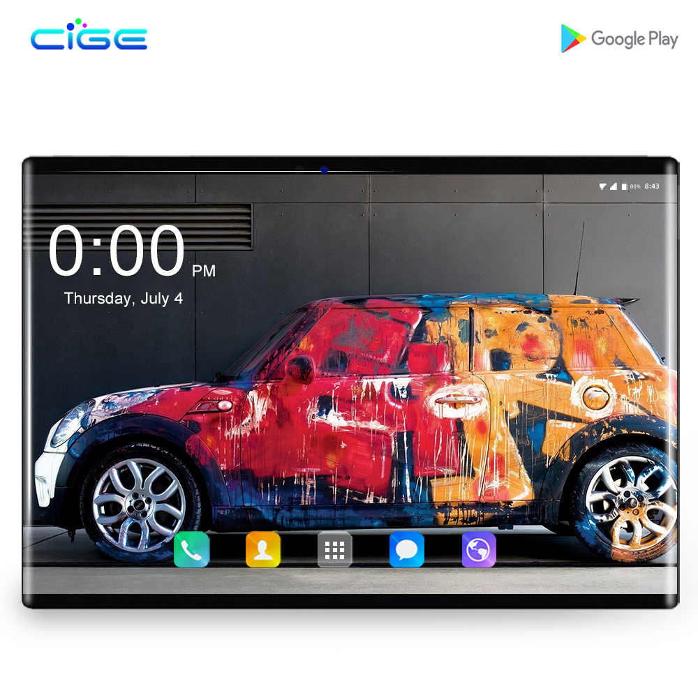 10.1 Inch Tablet PC Android 8.0 3G 4G Lte Phone Call Octa Core 6GB Ram 64GB Rom Bluetooth Wi-Fi GPS Tablets Phone + Keyboard
