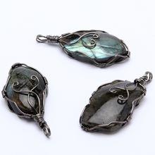 Натуральный блестящий камень ювелирное изделие ручной работы
