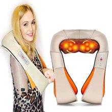 Ev araba elektrikli vücut masajı gevşeme masajı U şekli boyun geri omuz Shiatsu kızılötesi isıtmalı 3D yoğurma masaj aleti