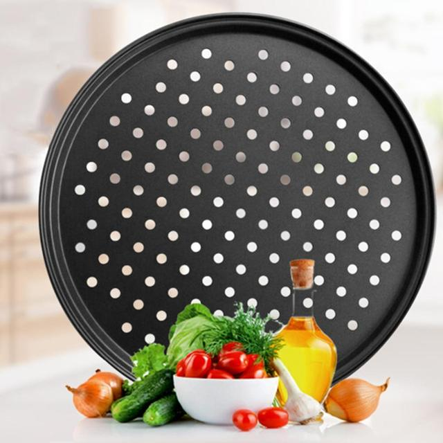 Non-Stick Pizza Pans with Holes  3