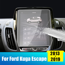 цена на For Ford Kuga 2013 2014 2015 2016 2017 2018 2019 Mk2 Escape Tempered Glass Car GPS Navigation Screen LCD Protector Film Sticker