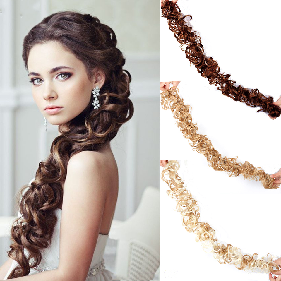 Lupu Natural Hair Bands, Buns, Elastic Hair Extensions, Ponytails For Extended Hair, Ladies Long Curly Hair