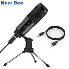 USB Microphone Professional Condenser Microphone for Computer Studio Mic with Shock Mount for Recording Singing Youtube Skype tyless usb plug computer tabletop omnidirectional condenser boundary conference microphone for recording gaming skype voip call
