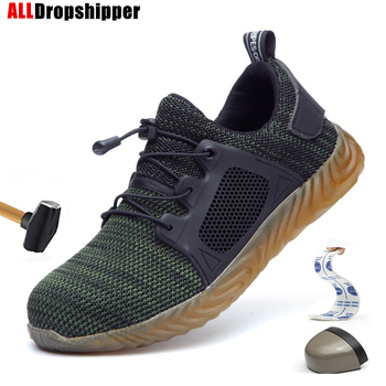 Indestructible Ryder Shoes Men Women Steel Toe Air Safety Shoes Puncture-Proof Work Sneakers Breathable Shoe Labor Casual Shoes women s labor supply
