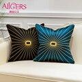 Avigers Роскошные Чехлы для подушек с вышивкой  синие  черные  золотые линии  наволочки для дивана  дивана  спальни  гостиной