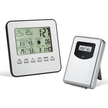 Wireless Weather Station Outdoor Sensor Thermometer Humidity LCD Screen Screen Digital Alarm Clock Barometer Forecast Color weather station touch screen wireless indoor thermometer hygrometer digital alarm clock barometer forecast meter digital alarm