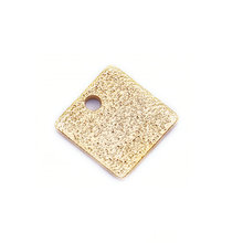 20PCS 8MM thickness 0.7MM 24K Gold Color Brass Frosted Square Charms High Quality Diy Jewelry Findings Accessories quelle marie claire 497418