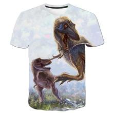 Футболка с динозавром для мальчиков одежда футболка и девочек