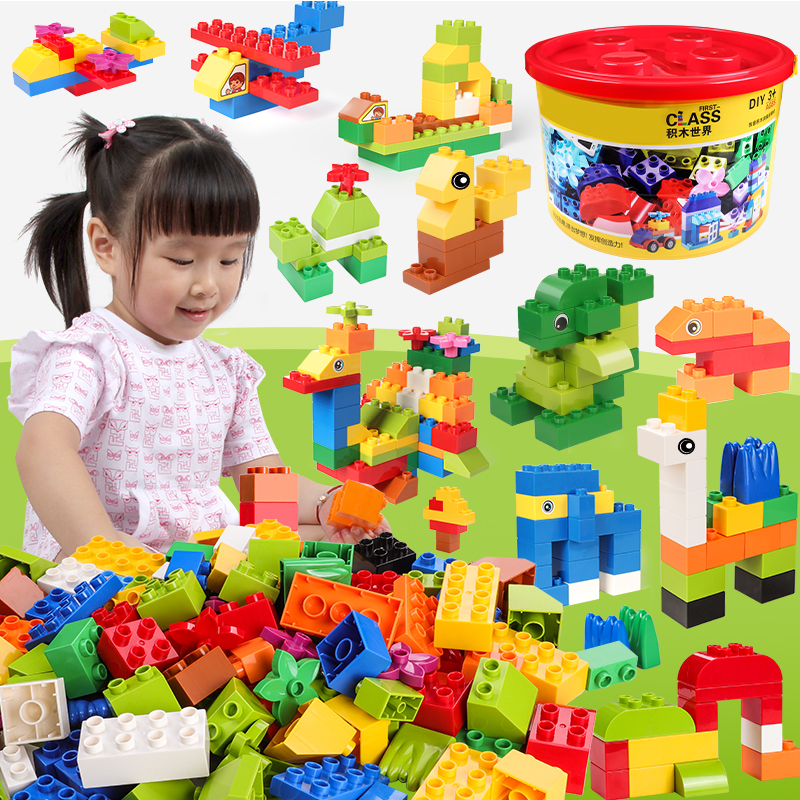 DIY Big Size Building Blocks Big Bricks Truck Car Educational Learning Toys For Children Compatible With LegoED DuploED Blocks