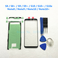 Voor Outer Glas Lens Cover Touch Screen Voor Samsung Galaxy S8 S9 S10 Plus S10e Note 8 9 10 + lcd Glas & Sticker & Gereedschap