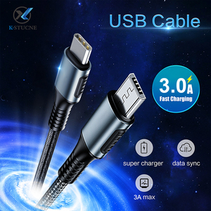 USB C To Micro USB Cable For Samsung S7 6 Android 1m Micro Usb To Type-C USB-C 3.1 Cables For Macbook UsbC Fast Charge Data Cord