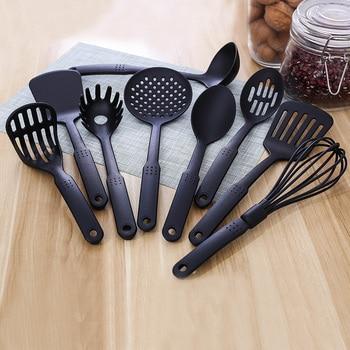 Juego de utensilios de cocina de nailon resistentes al calor de calidad alimentaria