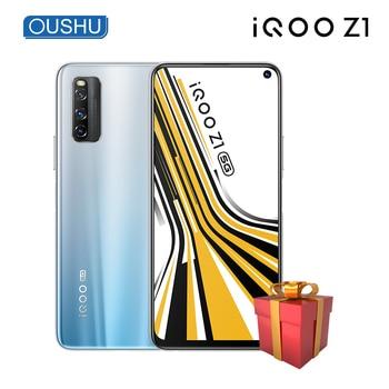 Перейти на Алиэкспресс и купить Новейший IQOO Z1 двухрежимный 5G мобильный телефон 48MP Тройная задняя камера 4500mAh аккумулятор 44W зарядка вспышки 144Hz гоночный экран 6,57''