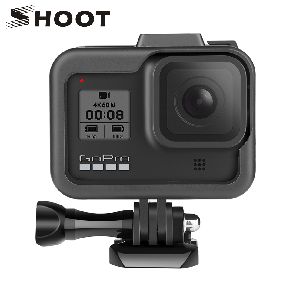 SHOOT For GoPro Hero 8 Black Frame Case Border Protective Cover Housing Case Mount For GoPro Hero8 Go Pro 8 Protection Accessory