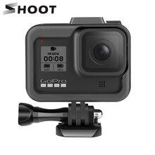 Shoot capa de proteção de câmera para gopro, capa com borda protetora de borda preta para gopro hero 8 go pro 8 acessório de proteção