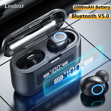 Leehur Bluetooth Earphone IPX5 Waterproof Bluetooth Headphones 2000mAH With Microphone Sport Music Headset Earbud fone de ouvido цена 2017