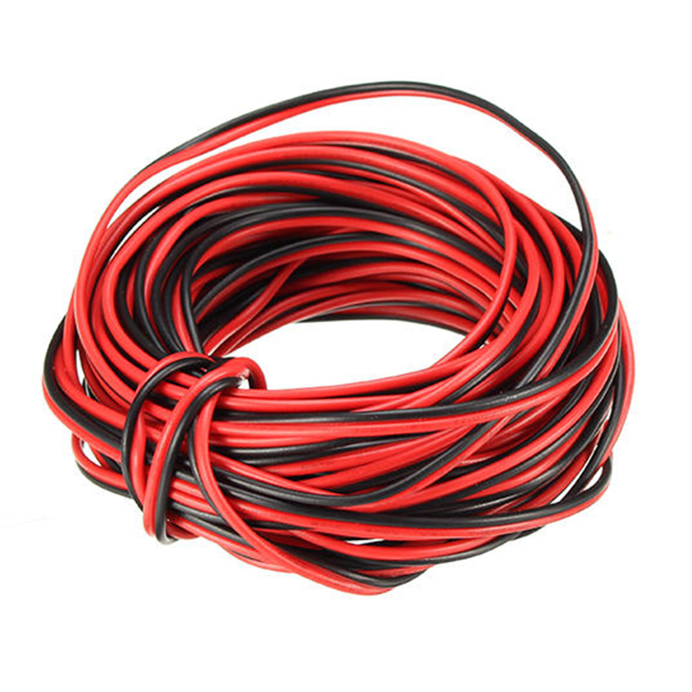 10M 2Pin Cars Motorcycle Electric Wire Cable Red/Black Connector Line 22AWG