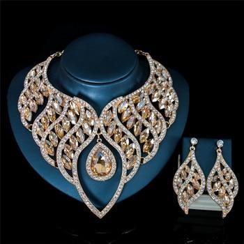 Luxury Waterdrop Crystal Jewelry Set 2