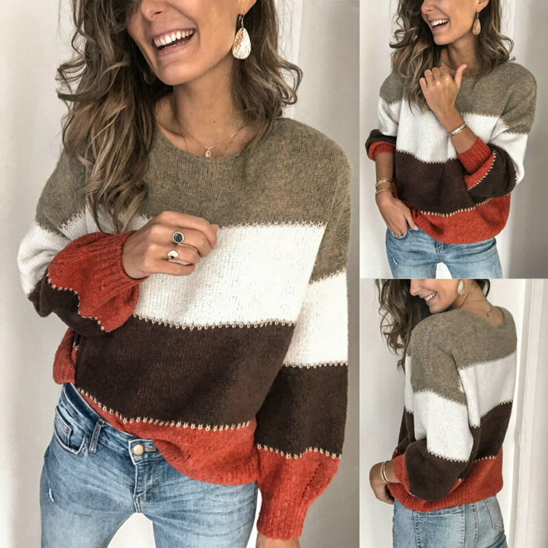 2020 Fashion Brand New Hot Women Winter Knitted Sweater Jumper Long Sleeve Ladies Sweatshirt Pullover Tops