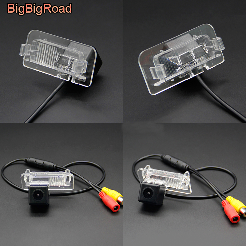 BigBigRoad For Mercedes Benz E Class W210 <font><b>CLS</b></font> W203 W211 W209 <font><b>W219</b></font> Car HD Rear View Parking CCD Camera Auto Backup Monitor image