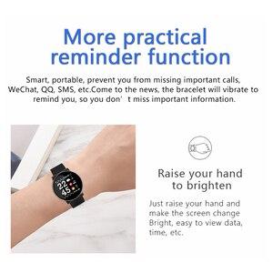 Image 5 - LYKRY スマート腕時計男性女性血圧活動スポーツリストバンドフィットネストラッカー血液酸素モニタースマートウォッチ android