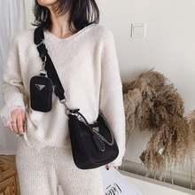 Модные сумки через плечо женская черная сумка на одно водонепроницаемая