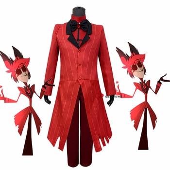 Hazbin Cosplay Hotel Alastor Uniform Cosplay Costume Adult Men Halloween Carnival Christmas Costume Red Suit movie thor ragnarok cosplay thor odinson costume men thor cosplay costume thor 3 outfit halloween carnival costume for adult