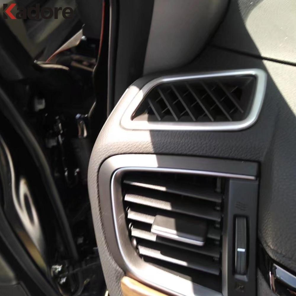 Chrome Middle Air Condition Vent Cover Outlet Trim For Honda CR-V CRV 2017 2018