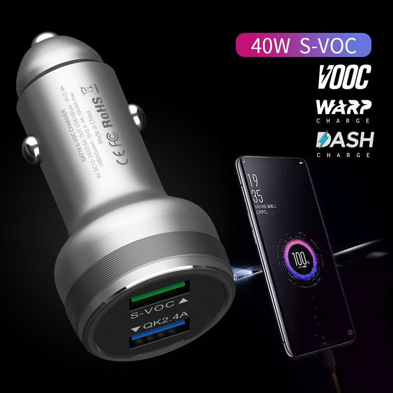 OnePlus 7 Pro Warp Car Charger Aluminum Alloy Super Vooc Fast Charging Car Charger For One Plus 7 6T 5T 1+5 1+3T Dash Charger