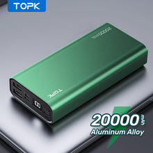 TOPK I2006 Power Bank 20000mah Phone Charger Portable Powerbank Rechargeable External Battery Usb Charger for Xiaomi Poco Realme