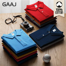 GAAJ Polo Men 100 Cotton Shirt High Quality Solid Collar Clothes US golf famous brand poloshirt Polos For Men Women Unisex Summe(China)
