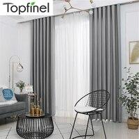 Topfinel-cortinas opacas de terciopelo suave para sala de estar, dormitorio, modernas cortinas para tratamiento de ventana, noche cálida, diversos colores