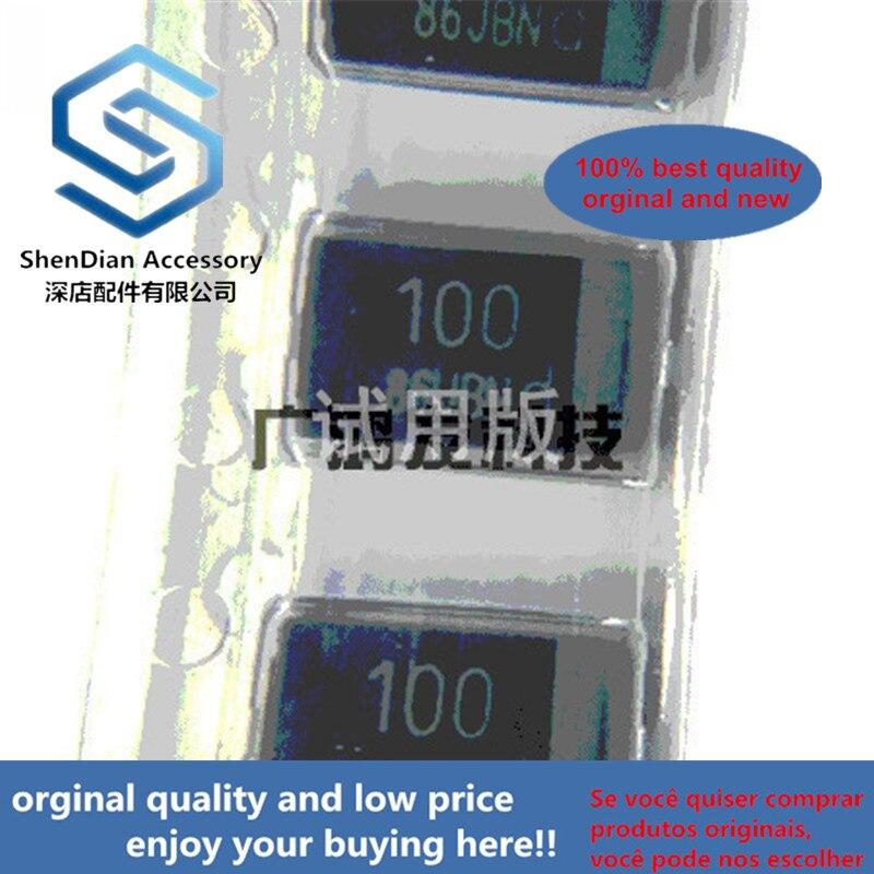 10pcs 100% Orginal New EEFSF0D101ER / R SMD Polymer Aluminum Electrolytic Capacitor 2V 100UF D Thin 7343