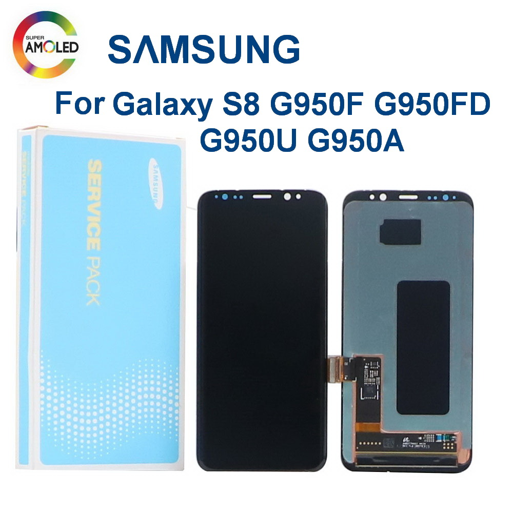 Original LCD For <font><b>Samsung</b></font> <font><b>Galaxy</b></font> <font><b>S8</b></font> <font><b>With</b></font> <font><b>frame</b></font> <font><b>Display</b></font> G950 G950F G950A G950U Lcd <font><b>Display</b></font> <font><b>With</b></font> dead pixels Touch Screen Digitize image
