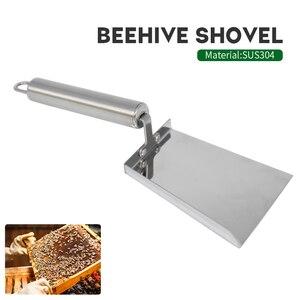 Image 2 - 1pcs Beehive Shovel Bee Box Cleaning Stainless Steel Honey Scraper Cleaner Beekeeping Scoop Clean Tool