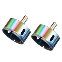 uxcell 2pcs 55mm Diamond Drill Bit Hole Saw for Tile Glass Marble Granite Fiberglass Ceramic Tool Colorful(China)