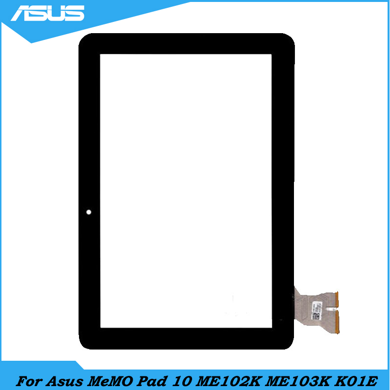 Asus ME103K Black Touch Screen Digitizer glass Lens repair parts For ASUS MeMO Pad 10 ME102K ME103K K01E Touch panel